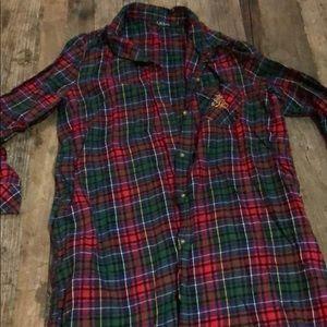 Ralph Lauren Intimates & Sleepwear - Ralph Lauren plaid long button you gown